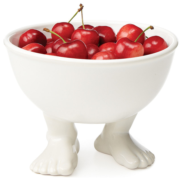 Footed Bowl eclectic-serveware