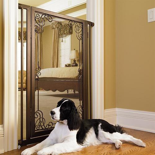 42 Quot H Expandable Mesh Pet Gate Dog Gate Traditional Pet