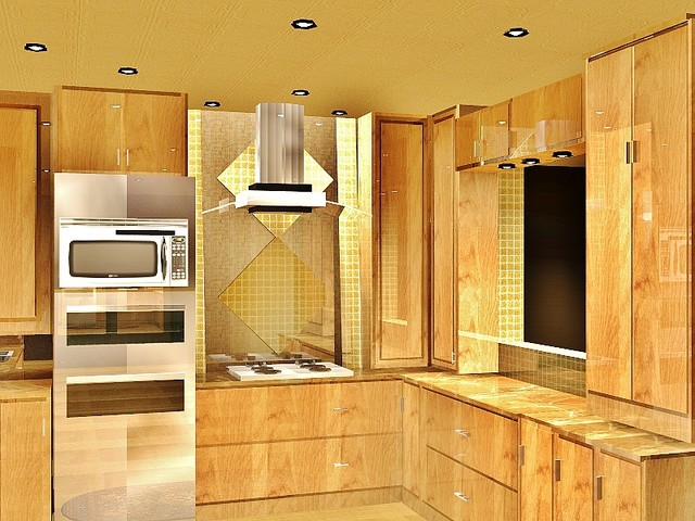 Kitchen ideas with 2d 3d drawings contemporary for 3d drawing kitchen