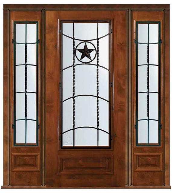 Prehung sidelights door 80 alder texan texas star 3 4 lite Prehung exterior door with sidelights