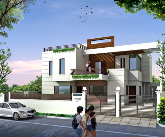 Luxury modern house plans  Indian modern house plans