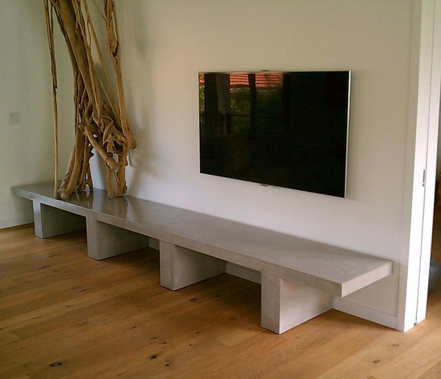 Beautiful Custom Concrete Benches Contemporary Indoor