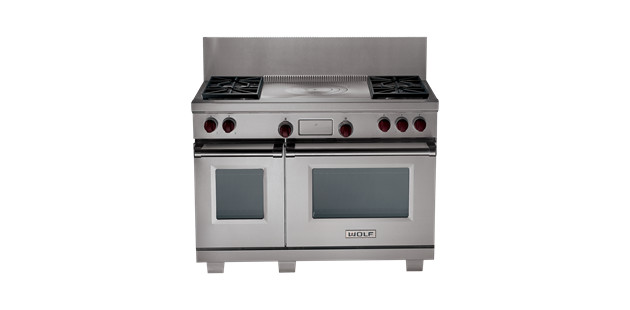 """Wolf 48"""" Dual Fuel Range contemporary-gas-ranges-and-electric-ranges"""