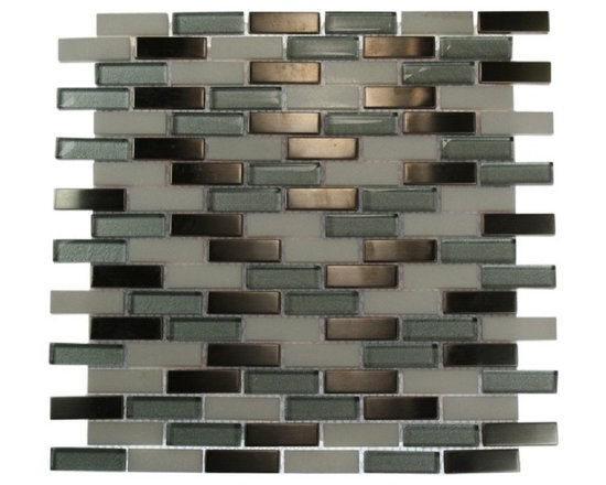 ALLOY POLAR WINDS 1/2X2 BRICK PATTERN MARBLE & GLASS TILE - The glass, stone, and stainless steel tile combination creates a beautifully multi-dimensionally effect. It is great to install in kitchen backsplashes, bathrooms, and any decorated spot in your home. The mesh backing not only simplifies installation, it also allows the tiles to be separated which adds to their design flexibility.