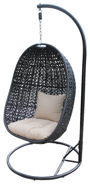 Nimbus Modern Patio Swing Chair, Stone Cushion - Modern - Outdoor ...