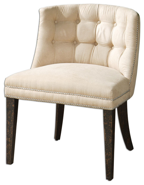 Uttermost 23049 Trixie Tufted Slipper Chair traditional-living-room-chairs