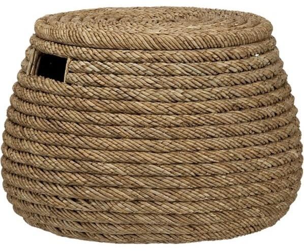 Roll Weave Storage Basket/Ottoman contemporary-baskets