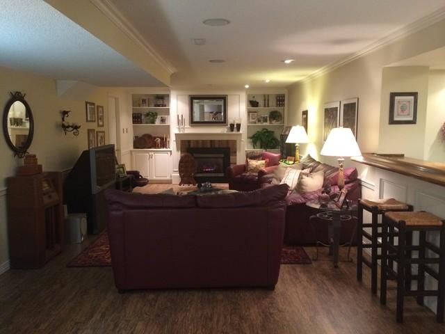 basement transitional family room - photo #9