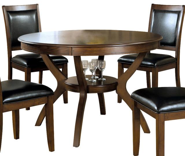 Monarch Specialties I 1890 Dark Walnut Ash Veneer Round  : contemporary dining tables from www.houzz.com size 640 x 538 jpeg 83kB