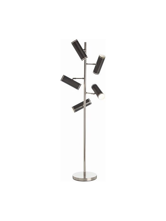 Arteriors Pruitt 5L Polished Nickel Floor Lamp - Pruitt 5L Polished Nickel Floor Lamp