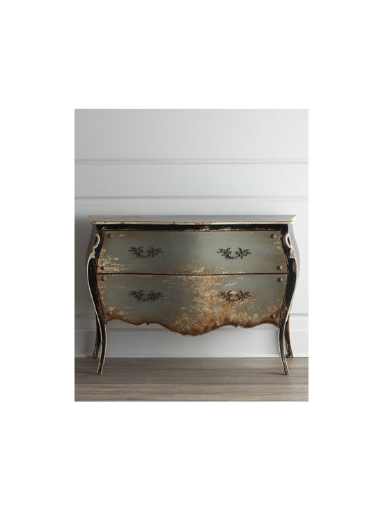 """Horchow - Merino Chest - My friends know me for my love of chippy, rusty, crusty things, and this French Bombay chest has just the right amount of """"chippiness."""" With great lines and extra storage, it will work beautifully in a Paris-inspired apartment."""