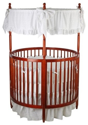 Dream On Me Sophia Posh Circular Crib - Cherry traditional cribs