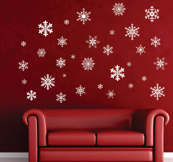 Winter Wonderland Snowflake Removable Wall Decal by Nothin but Vinyl modern-christmas-decorations