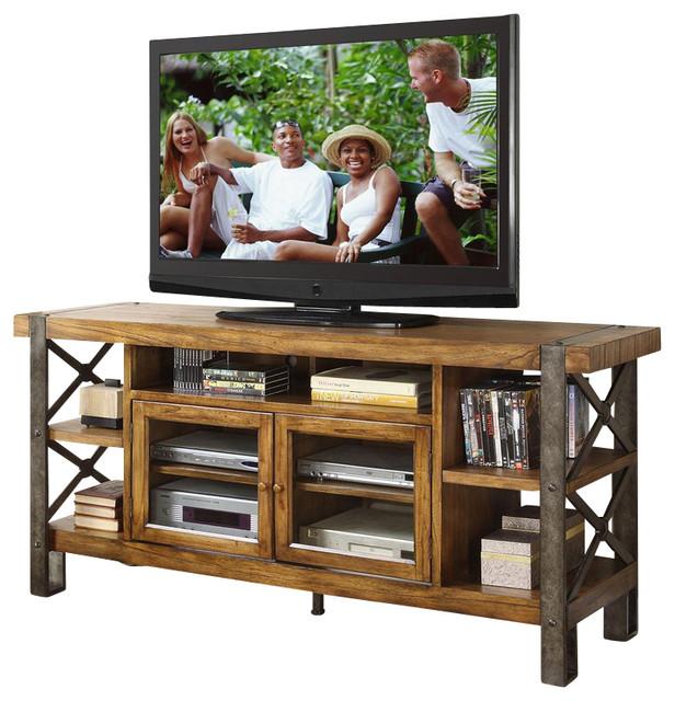 "Riverside Furniture Sierra 68"" TV Console - Rustic - Media Storage - by Cymax"