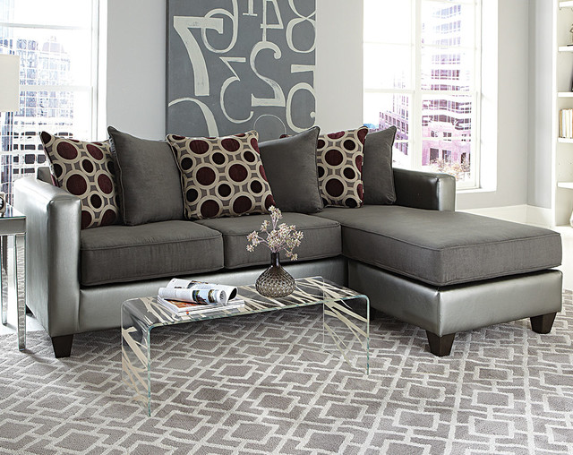 Mulberry Graphite 2 Piece Sectional Modern Living Room Columbus By Am