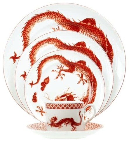 Red Dragon Dinnerware asian dinnerware