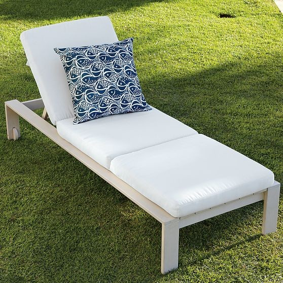 Wood-Slat Single Lounger modern-outdoor-chaise-lounges