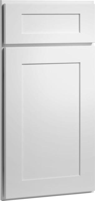 Dayton Door  Painted White Finish  CliqStudios com Kitchen Cabinets