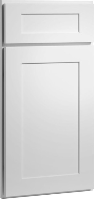 Dayton Door | Painted White Finish | CliqStudios.com Kitchen Cabinets contemporary kitchen cabinets