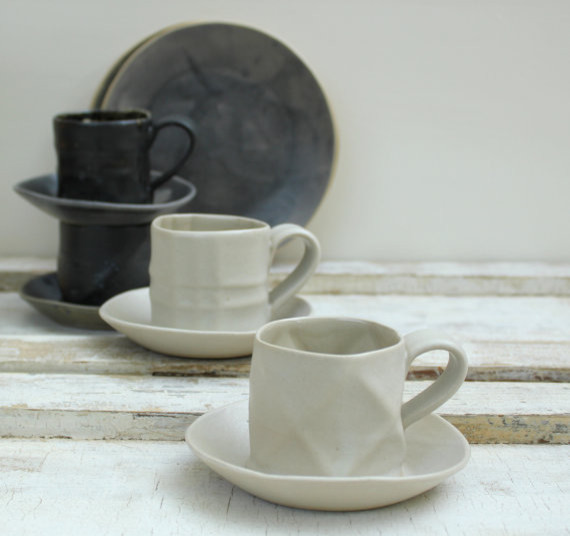 Contemporary Cappuccino And Espresso Cups by Etsy