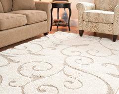 Ultimate Cream/ Beige Shag Rug (11' x 15') contemporary-rugs
