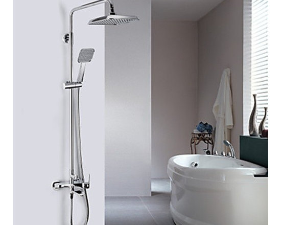 Shower Faucets - Contemporary Chrome Finish A Grade ABS Wall-mount Shower Faucet--FaucetSuperDeal.com