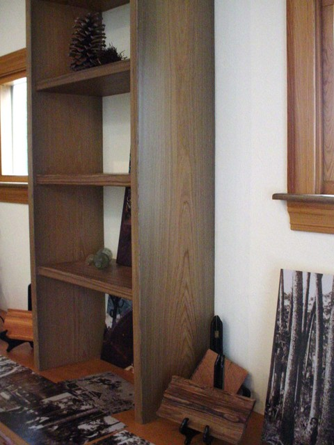 Heart Cypress Wood traditional-bookcases