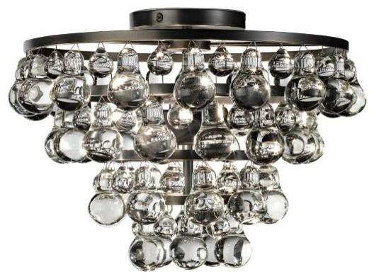 Robert Abbey Bling Patina Bronze Flushmount contemporary-ceiling-lighting