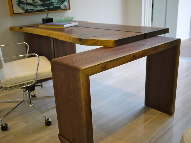 2012 new american walnut desk contemporary desks and hutches tampa by robin wade furniture - Home office furniture tampa ...