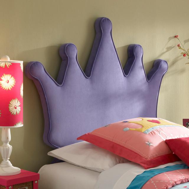 Princess Crown Kids Twin Size Headboard Modern Kids