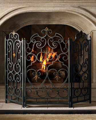 Marcel Fire Screen Traditional Fireplace Accessories By Horchow
