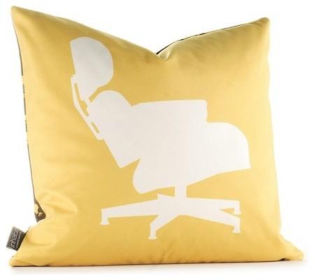 Modern Classics Pillow in Sunflower and Chocolate modern-decorative-pillows