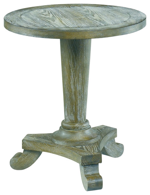 hammary 090 349 hidden treasures driftwood round pedestal end table traditional side tables. Black Bedroom Furniture Sets. Home Design Ideas