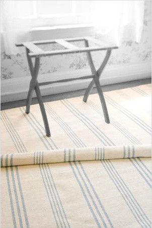 Swedish Stripe Woven Cotton Rug traditional-rugs