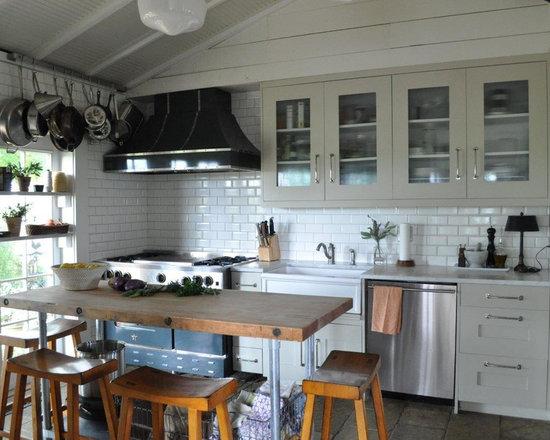 "Rebekah Zaveloff's Kitchen - 48"" Custom BlueStar Range with a French Top and 4 burner configuration"