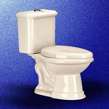 Bone Laurier Dual Flush Toilet traditional-toilets