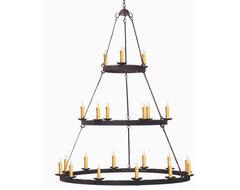 New triple tier  hand made iron chandelier eclectic-chandeliers
