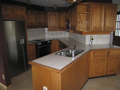 Help this kitchen in an odd design for Kitchen design help