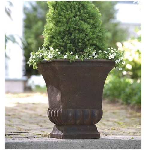 Rustic Metal Urn Large Modern Outdoor Pots And