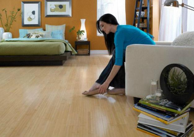 Morning star horizontal natural bamboo hardwood flooring for Morningstar wood flooring