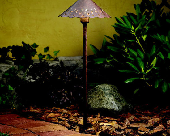 Kichler - 15843TZT Bronze Kichler LED Hammered Roof Landscape Path Light - Call for best prices. Here's our low price guarantee.