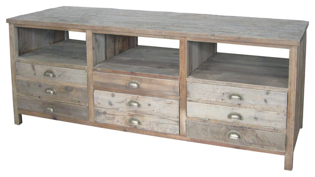 Reclaimed Wood LCD TV Stand - Rustic - Entertainment Centers And Tv Stands - by Custom Furniture ...