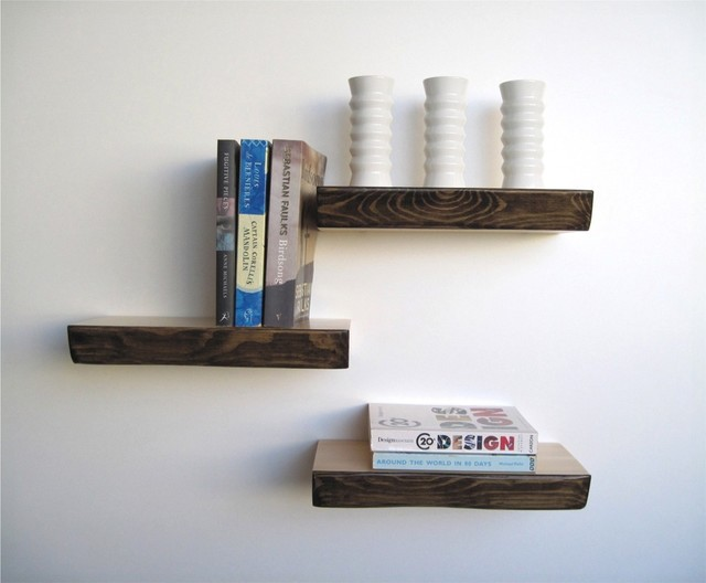 floating shelf modern display and wall shelves by mocha wood shelf ...