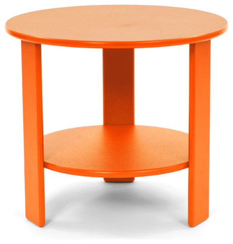 lollygagger side table round sunset orange contemporary