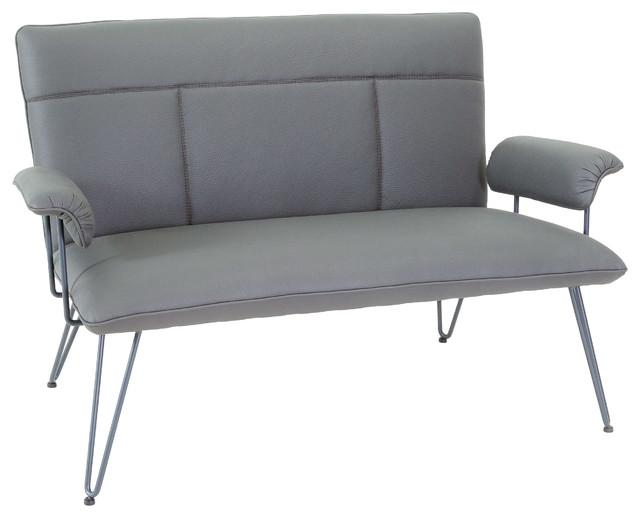 Charlotte modern grey loveseat midcentury loveseats Modern furniture charlotte