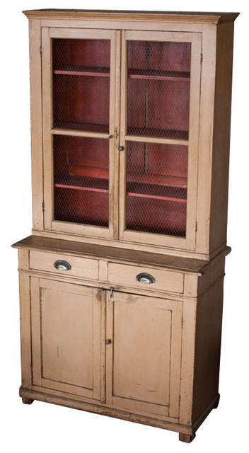 Antique Pine Buffet Deux Corps  storage and organization
