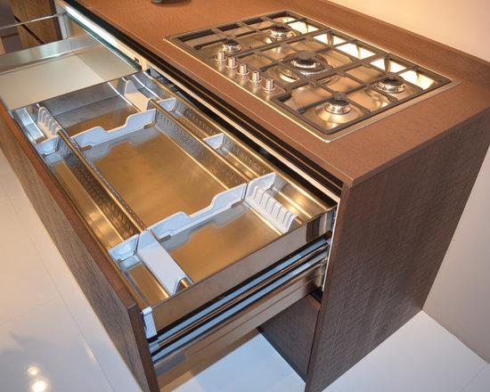 Italian Kitchen Cabinet Organization and Close-up Images - EVAA International, Inc
