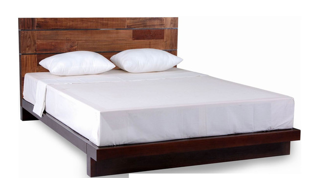 Savannah Collection Mahogany and Reclaimed Wood Platform Bed