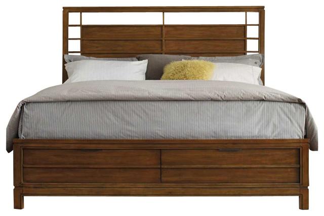 Hooker Furniture Chatham Panel Platform Storage Bed-California King transitional-beds