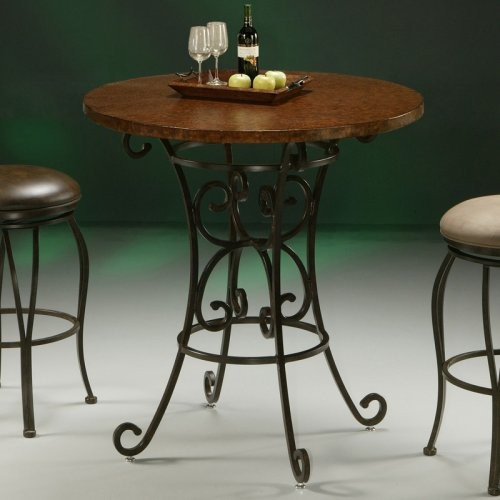 Pastel Magnolia Pub Table with Copperstone Metal Top - Traditional - Indoor Pub And Bistro ...